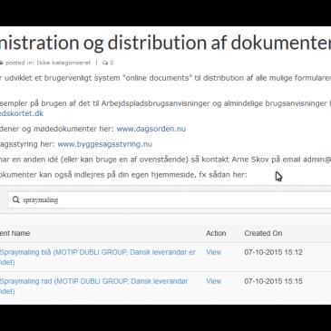 Administration og distribution af dokumenter