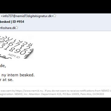 Advarsel mod phishing mails