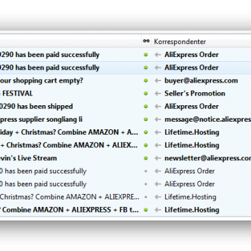 Oprydning i mails