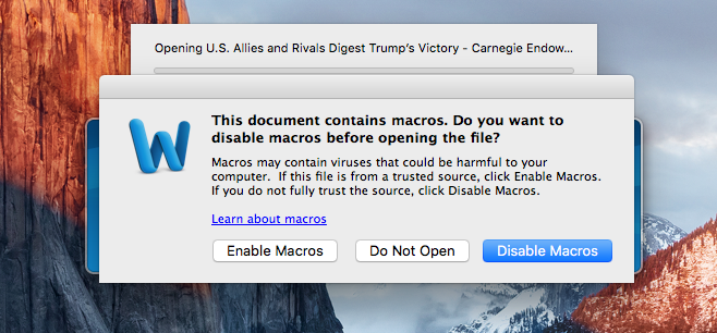 Mac virus i Word makro