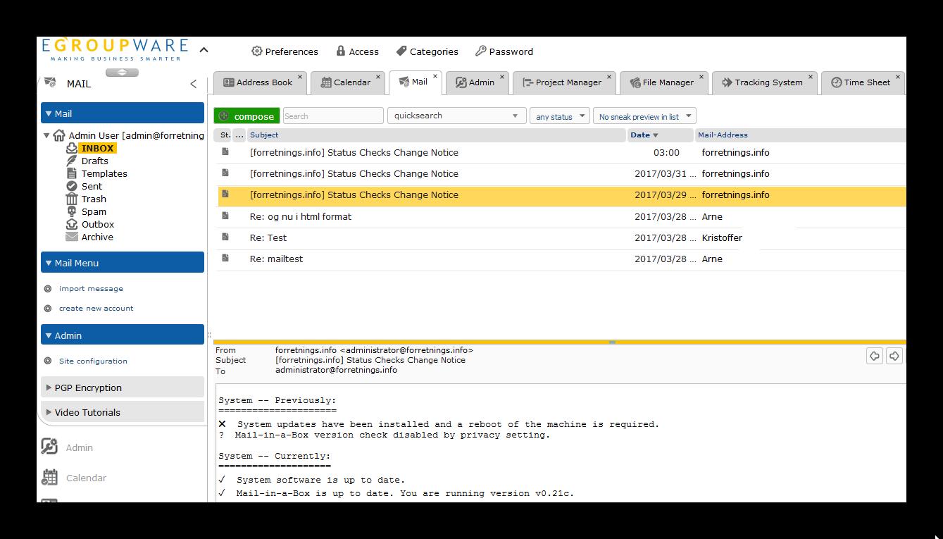 egroupware brugergrænseflade