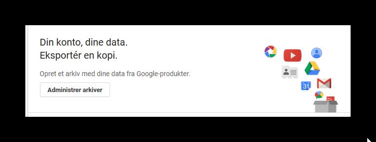 Adgang til Googles data om dig