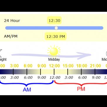 AM/PM og 24 timer