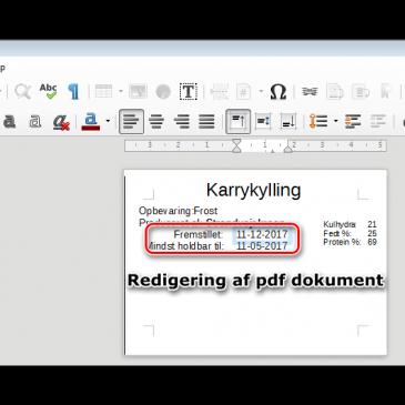 Redigering af pdf filer