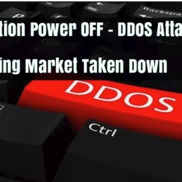 DDoS handelssted lukket