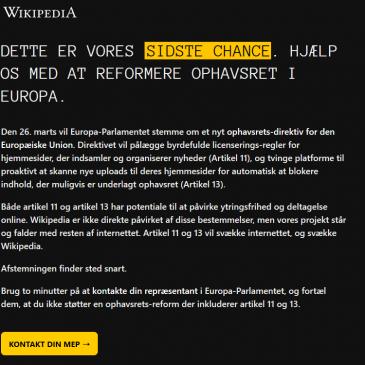 Copyright direktivet – trussel mod internet?