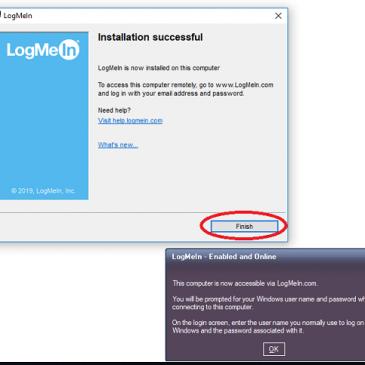 Installation af fjernstyring LogMeIn
