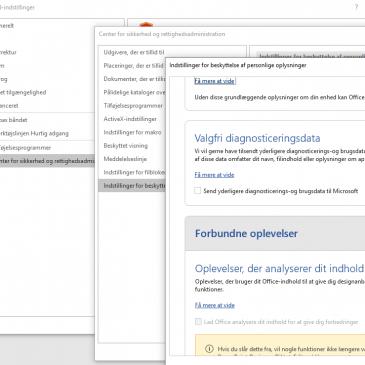 Microsoft Office indsamler data